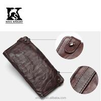 SK-8013 men old vintage leather wallets