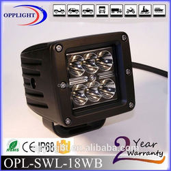 Guangzhou tractor led work light 18w, spot or flood light heavy duty off road led light, 18w work light led car