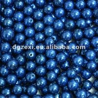 dark blue color high quality faux pearl of glass pearls bead for jewelry making