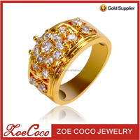 latest new fashion gold plated ladies finger rings designs photos