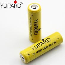 5Pcs 14500 3.7V 1200mAh Li-on Rechargeable Battery Free Shipping