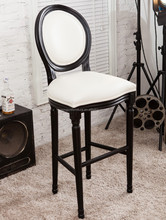 French style Solid wood design Wooden dining bar chair bar stools,Round Back Louis Bar Chair