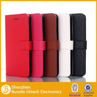hot selling Litchee Texture Wallet flip Leather Case for iPhone 6