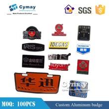 Custom embossed metal logo aluminum label,metal sign for brand