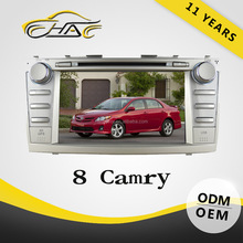 8 inch double din car DVD GPS system built in radio for Toyota Camry