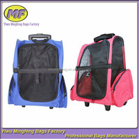 Wholesale Fashion Cat Travel Luggage Backpack High Quality Rolling Duffel Dog Carrier Pet Bag with Wheels 2colors CWB001