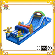 2015 Leisure Activities Stock Inflatable Surf's Up Obstacle Jumper With Slide