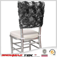 factory fancy flower half back chair cover