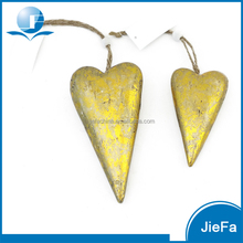 recycled paper / papier mache / paper pulp hanging heart for christmas ornament