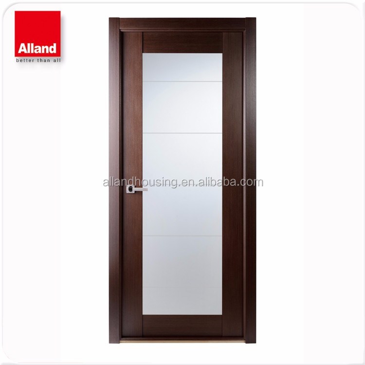 32x80pre Hung White Lacquer Finish Interior Flush Door With Glass