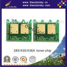 (CS-UHU2) universal laser printer toner reset chip for HP CE285A CC435A CC436A CE285 CC435 CC436 CE 285A CC 435A 436A bk 1.6K