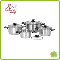 Professional Stainless Steel 8pcs Induction Ready Cookware Set, SaucePot, Cooking Pot