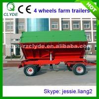 8 ton high hurdles cotton Four Wheel Farm Trailer For Agricultural