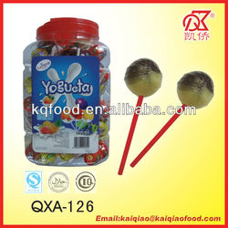 21g Kosher Yogueta Fruit Lollipop Filled With Gum