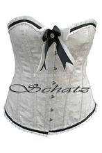 Full Bust White Steel Boned Corsets