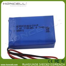 803040W-2S 7.4v 950mah li-polymer battery battery pack for christmas lights