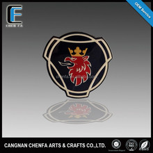 2015 hot sales manufactured in China 3M adhesive chrome plating ABS plastic round car emblem badge logo