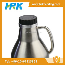 Stainless steel growler plastic screw cap beer stein lids