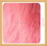 [JOY]120mm long plush for toys,long fake hair plush,pink fabric plush