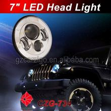 """low moq IP6K9K water-proof headlight 7"""" round motorcycle for 4*4"""
