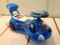 The children twist car with music mute wheel slide swing Yo baby car
