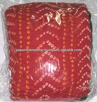 Bandhej Bandhani Cotton Churidar Salwar Kameez Suit
