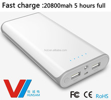 2014 new design portable mobile power bank20000mah Fast charge power bank