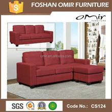 Red Corner 3 seater Sofa with a Stool