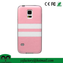 own brand factory pink pu leather case for samsung s5 mini