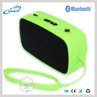 Stereo Mini Wireless Rubber Louch Speaker for Iphone 6 with Rubber Edge
