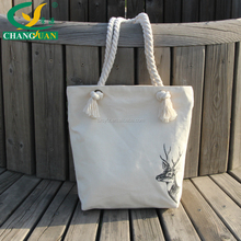 lovely canvas woman tote handbags for girls