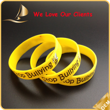 2015 Factory direct cheap custom silicone wrist band for Sports events