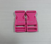 Red color 3/4 adjustable side release buckle for 20mm webbing