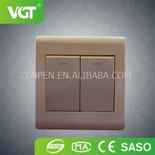 High quality British gold color push button 2gang 2 way light switch