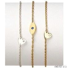 Fashion Hot For Woman Personalized Mini Evil Eye, Mia Mini Heart & Chelsea Horizontal Bar Bracelet