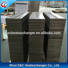 fin type construction of exchanger core