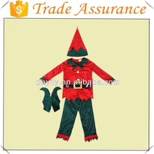 Factory outlets Role Playing red and green elf dress Halloween costume stage Halloween Costumes Cheap satin party dress
