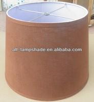 fancy brown linen fabric shade