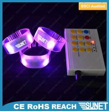 SUNJET best selling item 2016 new products party gift remote controlled led light stretch bracelet