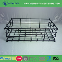 Metal wire storage caddy household square basket