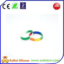 Simple mix color silicone bracelet for sports