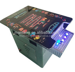 N equipped with Classical Game 412 In 1 PCB newest Mini Cocktail Arcade Machine with 19 inch LCD, American joystick ,American bu