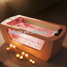 Freestanding Glass Acrylic Massage Bathtub