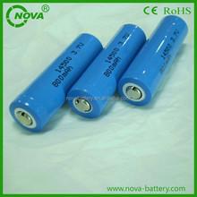 3.7v 800mah aa 14500 lithium ion battery, 3.7v 800mah rechargeable li-ion battery