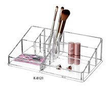 M-8121 Clear Retangle Middle Acrylic Makeup Holder Pmma Cosmetics Display Organiser Storage Case