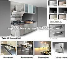 libre de soldadura a prueba de agua plana paquete de guangzhou oem gabinete de acero inoxidable de la cocina modular