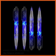 Promotional LED Flashing Bulb Pen Plastic Light Up Ball Pen