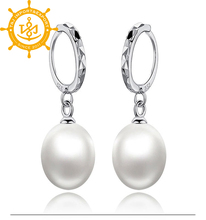 Hot sale Cheap fashion women kids big pearl pendant earring 2015/