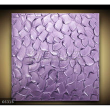 Handmade new Modern Palette Knife thick Metallic textured leaves canvas painting,Purple MIX & MATCH