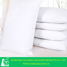 Good quality white duck down pillow for home and hotel